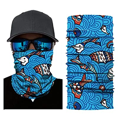 Padaleks Face Cover for Men Dust Sun UV Protection Magic Scarf Seamless Bandana Headband for Fishing Hiking Cycling: Sports & Outdoors