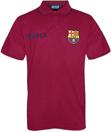 FC Barcelona - Polo oficial para hombre - Con el escudo del club - Azul marino: Amazon.es: Ropa y accesorios