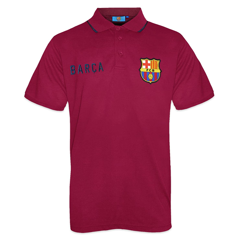 1b01e685fd4dbd Amazon.com  FC Barcelona Official Football Soccer Gift Mens Crest Polo Shirt  Navy Blue  Clothing