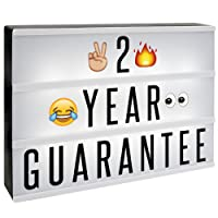 A4 Lightbox | Cinematic Light Sign Includes 205 Letters & Emojis and Free USB Cable | Light Up Box Sign | Replacement Letters, Characters, Emojis & Extra Symbols | Personalise Messages | To Fit A4 Cinematic Light Box | M&W Lightbox