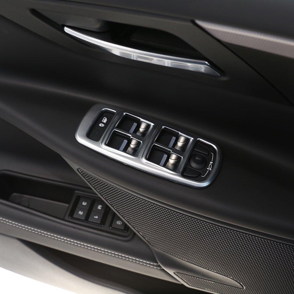 4pcs ABS Matte Chrome Car Door Window Button Panel Cover Trim Sticker For XE BEINSTOCK