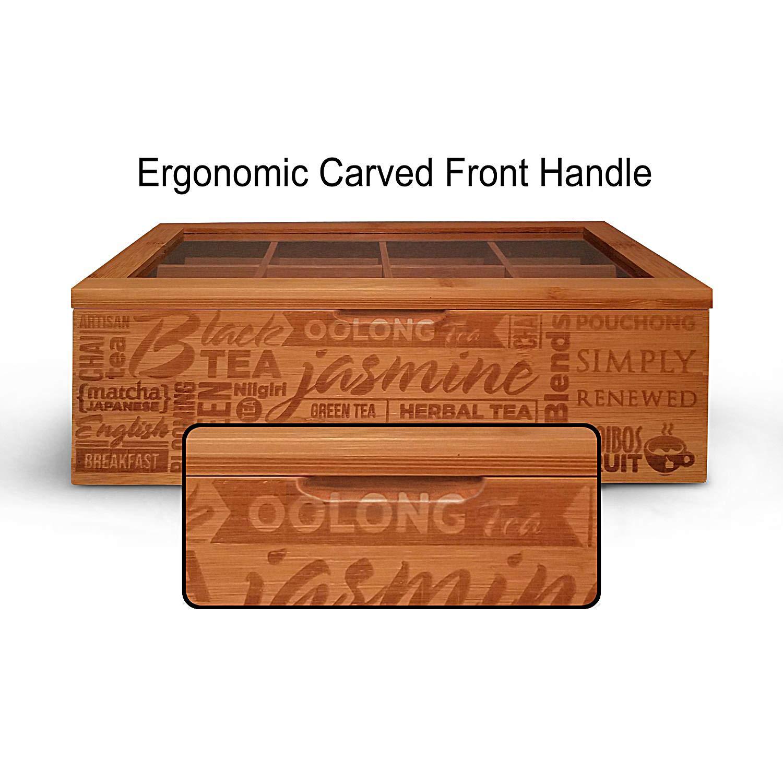 Amazon.com: Caja organizadora de té con 8 compartimentos de ...