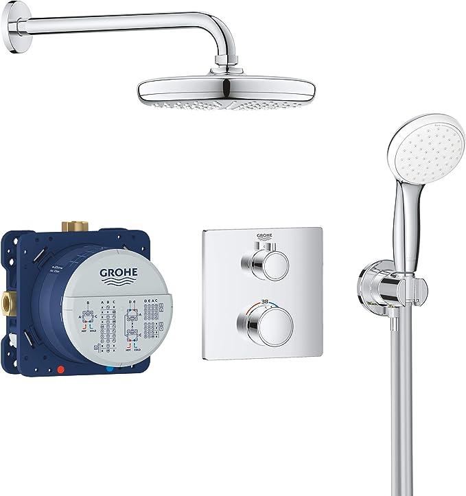 Grohe Bundle Grohtherm - Sistema de ducha 2 cabezales - con ducha ...