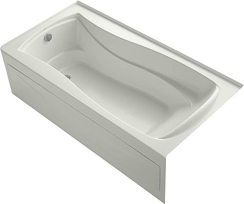 Kohler K-1259-LA-NY Mariposa Bath with Integral Apron, Tile Flange and Left-Hand Drain, Dune
