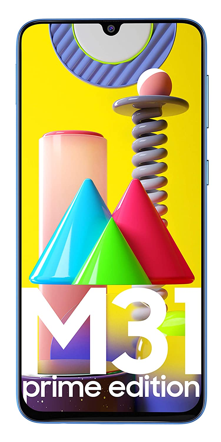 Samsung Galaxy M31 Prime Edition (Iceberg Blue, 6GB RAM, 128GB Storage) - Get Flat Rs 2,500 Instant Discount with select bank cards - Limited Period O