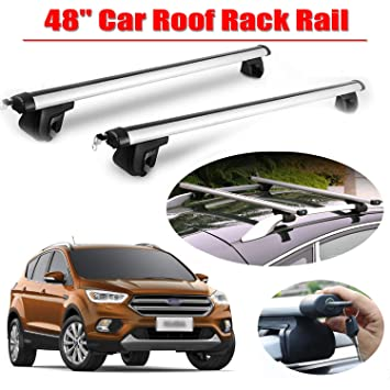 2008-Current Year MP Essential Lightweight Aluminium Car Roof Rack Rails Cross Bars to fit Ford Kuga