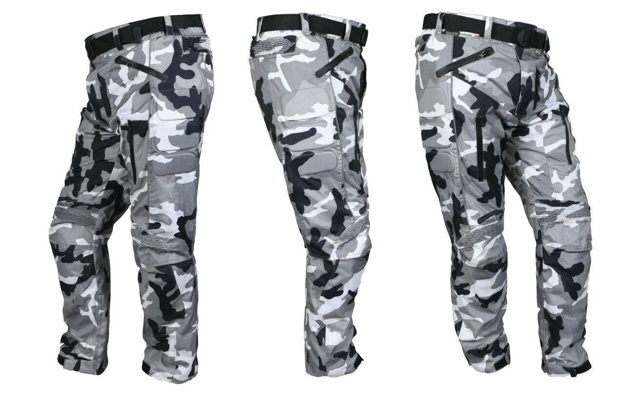 impermeables para hombre con blindaje CE de tela Swiftwears Pantalones de tela cordura para motocicleta