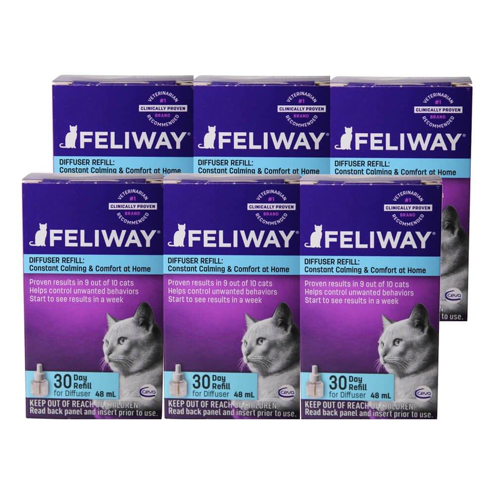 Feliway Plug-In Diffuser Refill, 48 mL, 6-Pack by Feliway