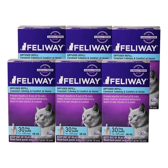 watch 842c1 f6ef8 Amazon.com   Feliway Plug-In Diffuser Refill, 48 mL, 6-Pack   Pet Relaxants    Pet Supplies
