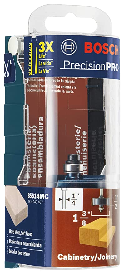 d1579a5c2a Bosch 85614M 1/2 In. x 1/2 In. Carbide Tipped Rabbeting Bit - Straight  Router Bits - Amazon.com