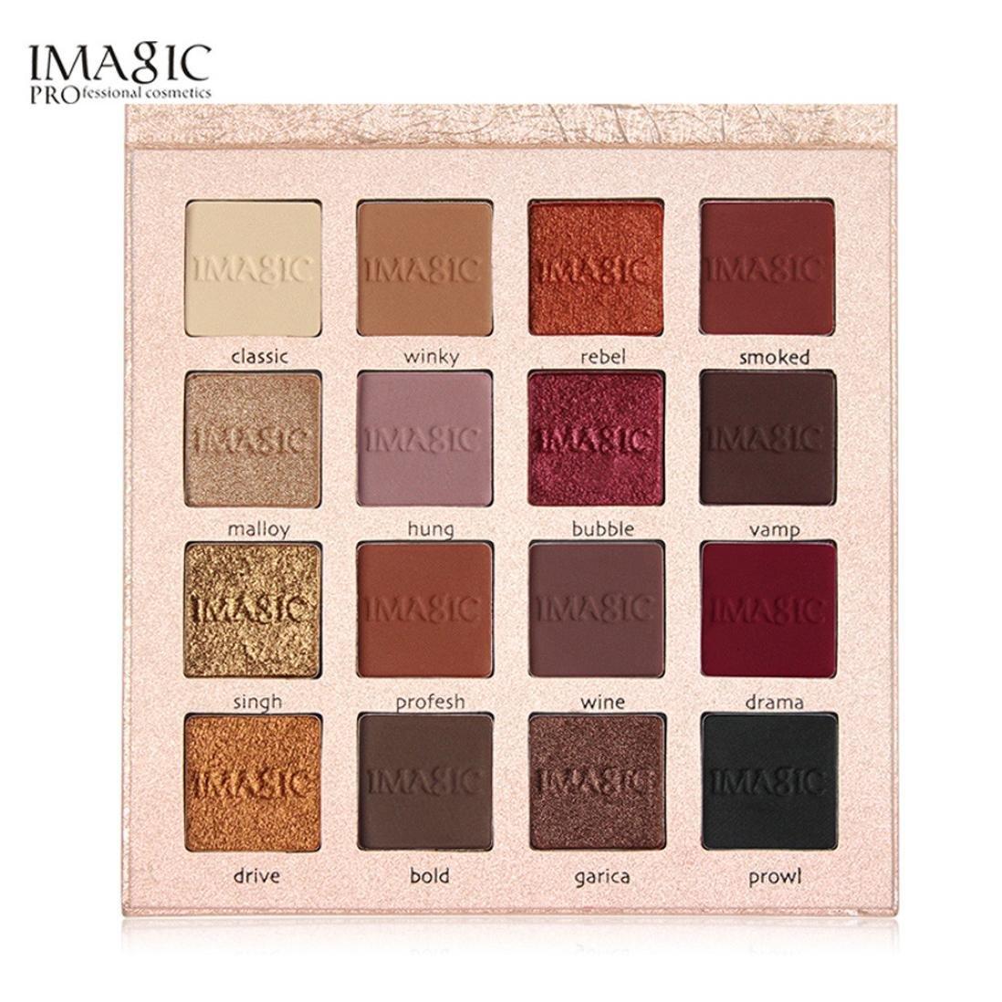 Gaddrt Reflet brillant fard à paupières ombre Matte maquillage cosmétique, 16 couleurs product image