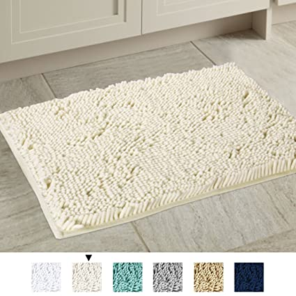 Amazon Hrsailtex Cream Bath Mat Soft Shaggy Bathroom Rugs