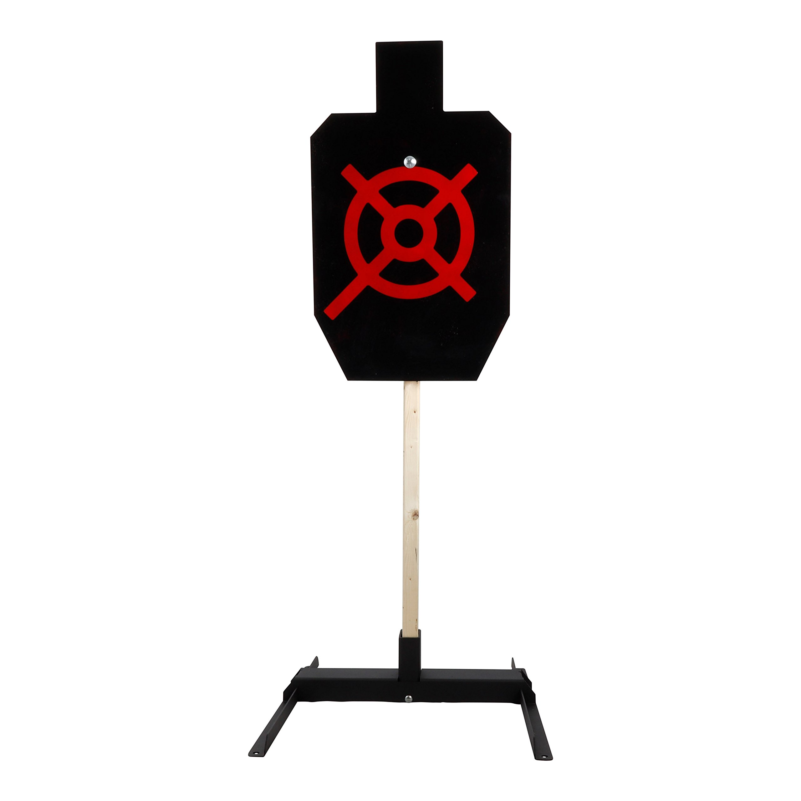 ShootingTargets7 IPSC Full Size Static Torso 1/4 inch AR500 + Base + Cap 18 x 30 inch for Pistols and Handguns by ShootingTargets7