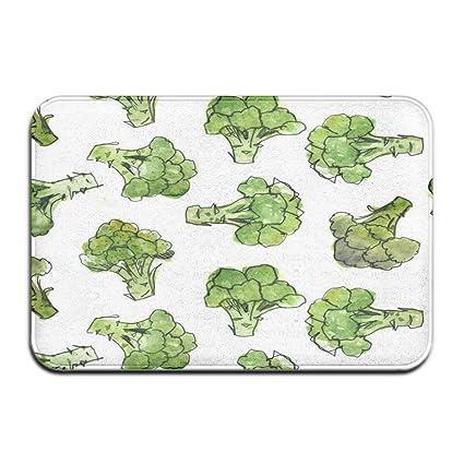 Amazon.com : JNSHO-G Welcome Entrance Door Mats Broccoli Doormat for Indoor Outdoor, Easy Clean : Garden & Outdoor