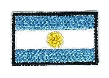 Parche de planchado con la bandera de la Argentina bordado, tamaño mediano: Amazon.es: Hogar