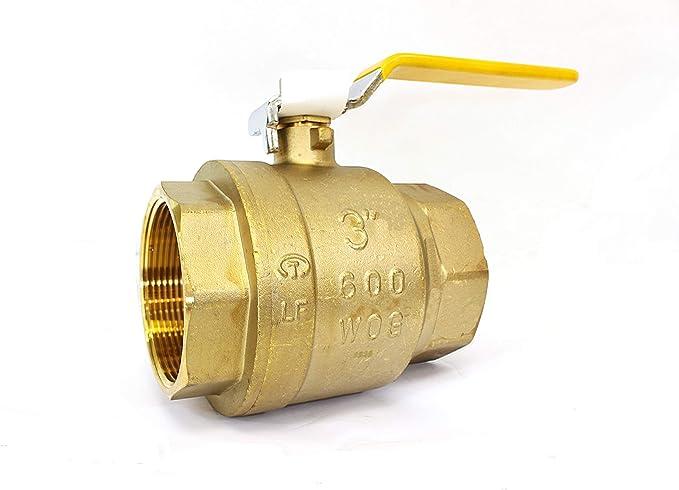 Full Port Heavy Duty Brass Ball Valve Shut Off Switch for Water and Oil 3//4 NPT 2PCS Lead Free Full Port Forged Brass Ball Valve