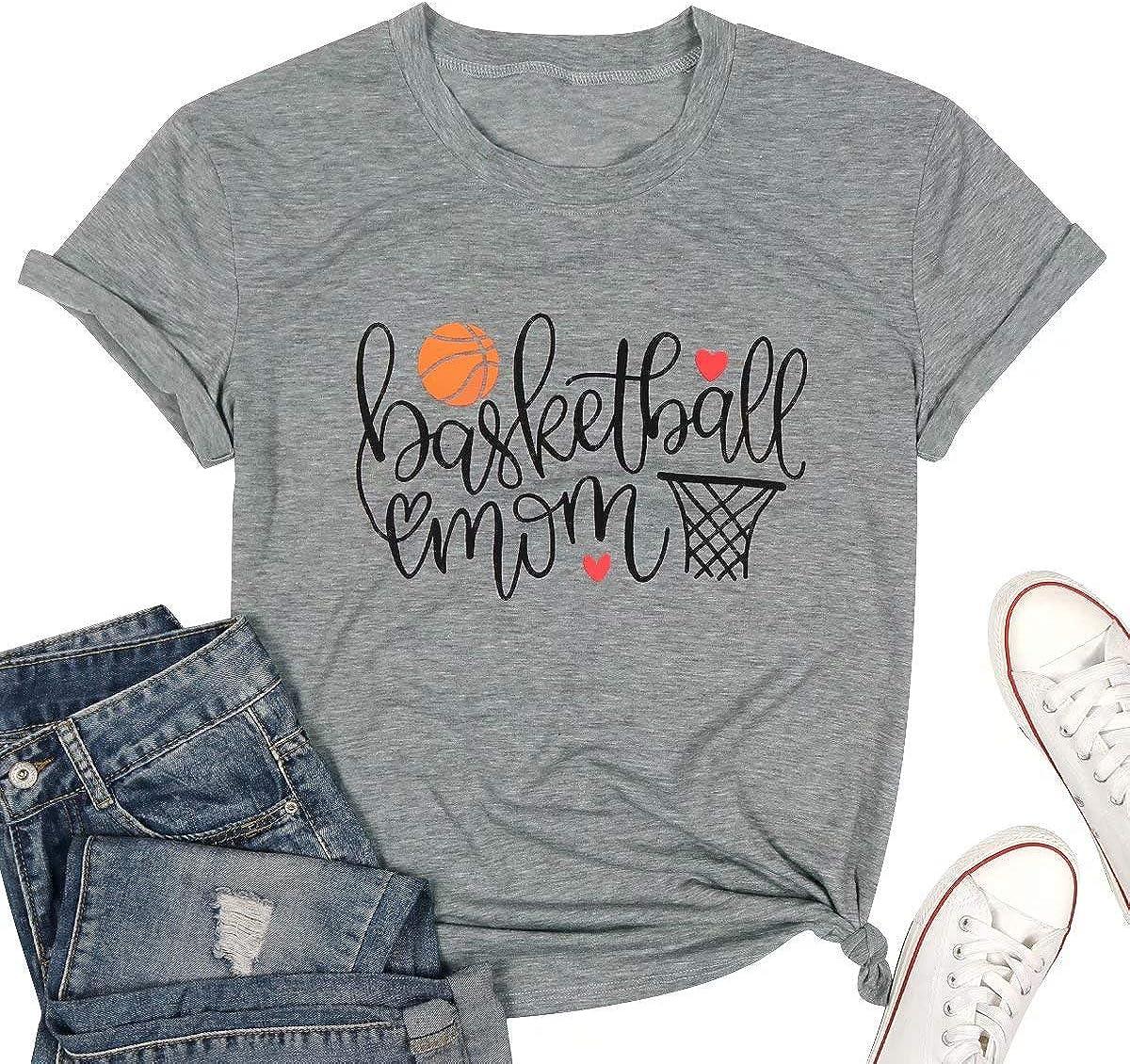 ASTANFY - Camiseta de baloncesto para mujer con estampado de letras - Gris - Small: Amazon.es: Ropa y accesorios