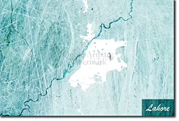 Lahore World Map.Amazon Com Introspective Chameleon Lahore Pakistan Modern Original