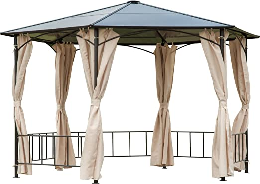 Outsunny - Carpa de Metal para Patio Hexagonal de 2 m con toldo de ...