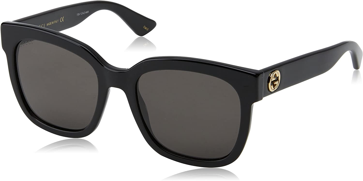 Gucci GG0034S 001 Black 0034S Square Sunglasses Lens Category 3 Size 54mm
