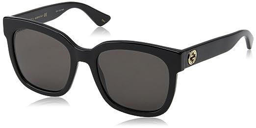 ec824cc0f5a Gucci Black Square Ladies Sunglasses - GG0034S-001  Amazon.com.au ...