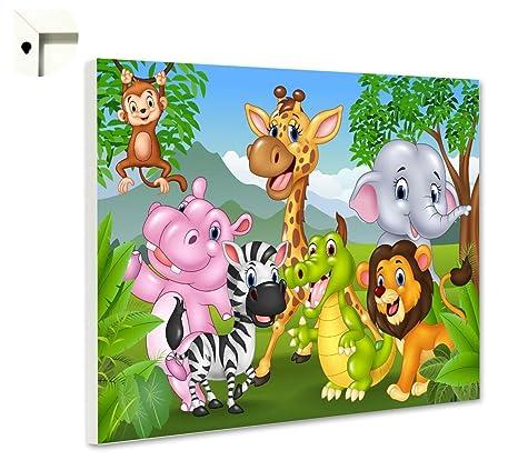 Pizarra magnética con diseño de Animales, 60 x 40 cm: Amazon ...