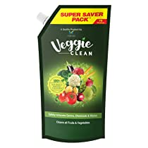 [Pantry] Veggie Clean, Fruits and Vegetables Washing Liquid, Refill Pack, Removes Germs, Bacteria, Chemicals and Waxes, 750 ml
