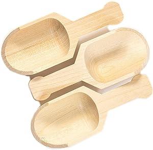 Perfect Stix - Scoop 3- 6ct Scoop 3-10ct Mini Wood Scooper, 3