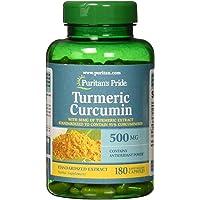 Puritan's Pride Turmeric Curcumin 500 mg Capsules, 180 Count
