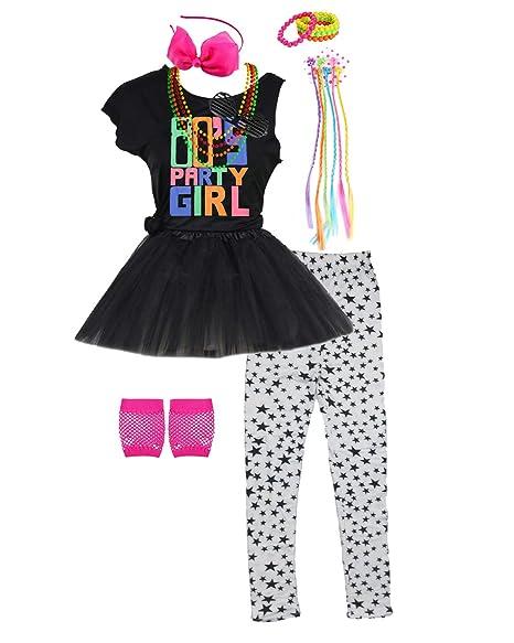 Amazon.com: Moda por Janestone niñas 80s camiseta traje ...