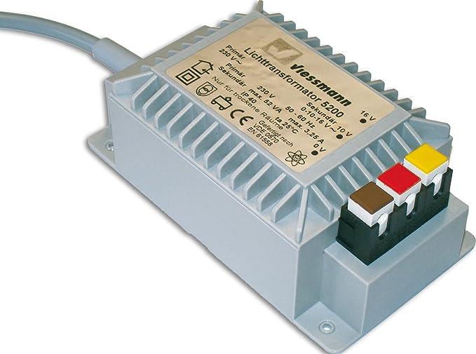 1 opinioni per Viessmann 5200- Trasformatore per luci 16 V, 52 VA