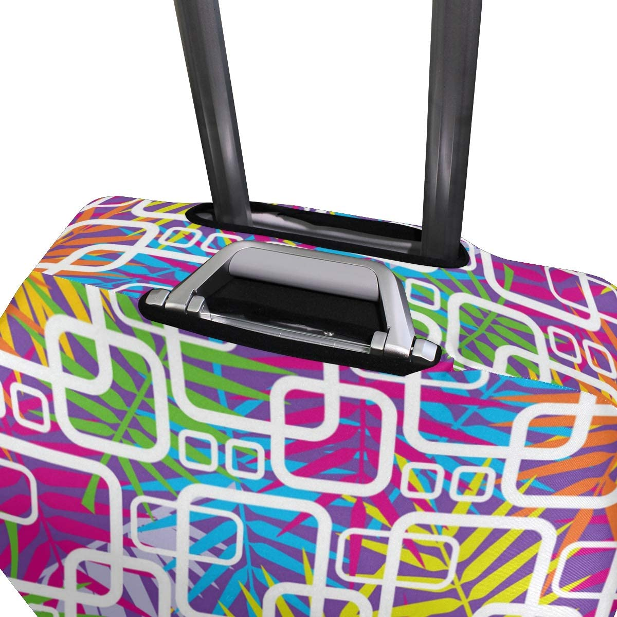 Pattern Color Tropic Leaves Travel Luggage Protector Case Suitcase Protector For Man/&Woman Fits 18-32 Inch Luggage