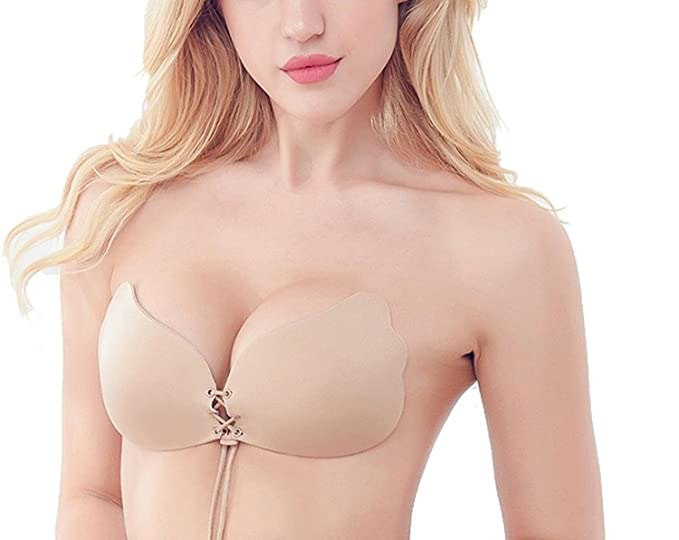 c67ce4b585b52 Image Unavailable. Image not available for. Colour  PEARL ACE Women s  Silicone Gel Invisible Self-Adhesive Stick-on Push up Strapless Bra