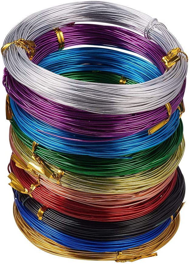 1 Roll 2mm Florist Aluminum Wire For DIY Crafts Jewellery Making  about 58m//roll