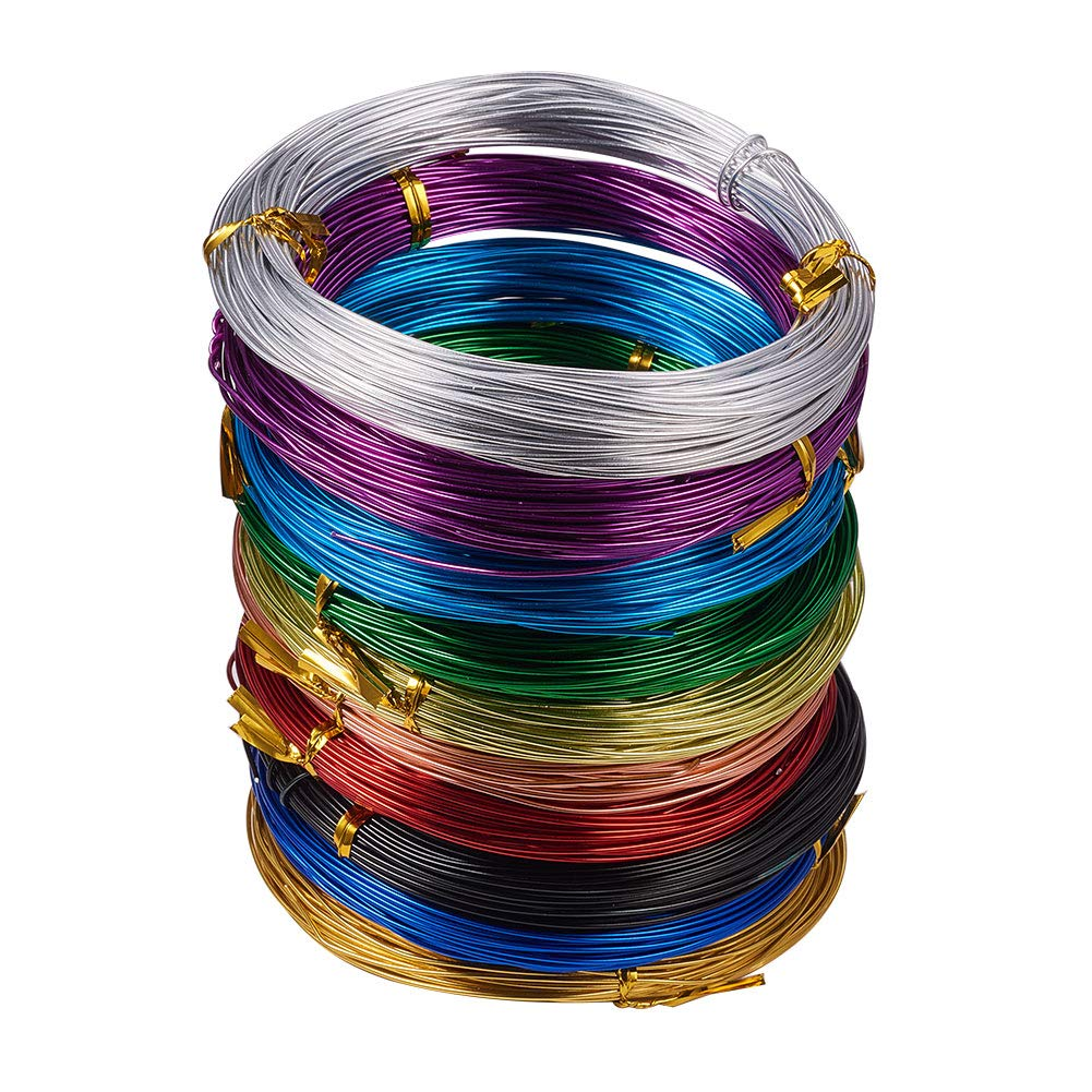 PandaHall Elite 10 Rolls Aluminum Craft Wire 18 Guage Flexible Artistic Floral Jewelry Beading Wire 10 Colors for DIY Jewelry Craft Making Each Roll 65 Feet by PH PandaHall