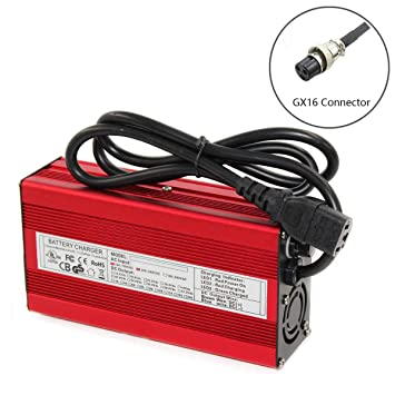 5A Fast Lithium Battery Charger For 36V Li-ion Li-Po Battery In Aluminium Case