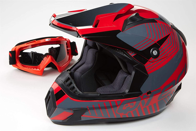 ATO Moto MX Mexico Schwarz matt Gr/ö/ße M 57-58cm Enduro Helm mit neuster Sicherheitsnorm ECE 2205