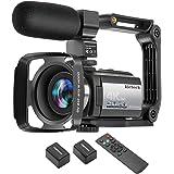 Video Camera Camcorder 4K 60FPS kicteck Ultra HD Digital WiFi Camera 48MP 3 inch Touch Screen Night Vision 16X Digital Zoom R