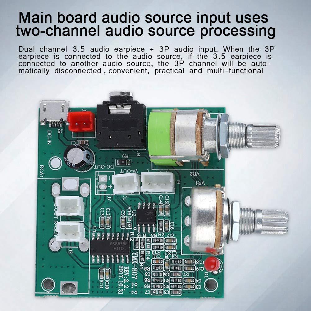 Mugast Digital Audio Stereo Board,2.1 Channel Digital Audio Endverst/ärker Board Hauptplatine,5V 20W Hohe Leistung Power Audio Verst/ärker Amplifier Stereo Board Modul f/ür Laptop//Desktop-Karten-Audio