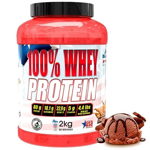 American Suplement 100% Whey Proteína en Polvo, Chocolate - 2Kg.