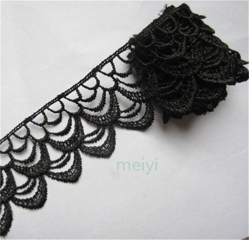 3 metros poliéster Crochet encaje borde guarnecido cinta 5 cm de ...