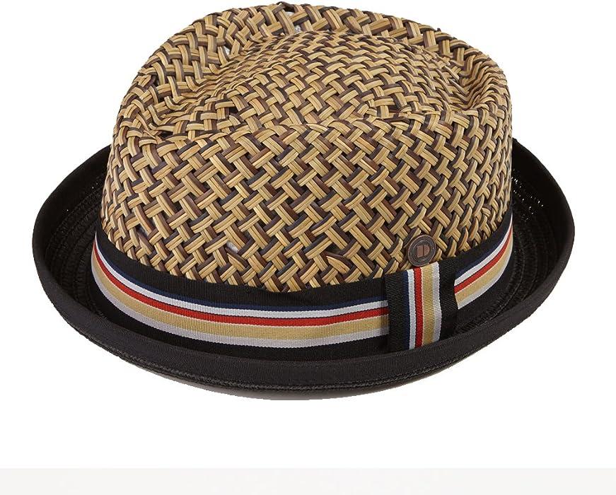 a96cce95046 Dasmarca Mens Summer Straw Retro Porkpie Hat - Max Black S at Amazon ...