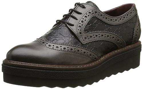 Donna Piu9844 Clio - Zapatos de Cordones Mujer, Gris (Gris (Tequila Asfalto/Sansone Taupe)), 37