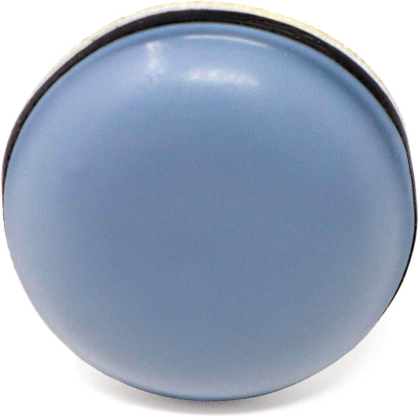 Adsamm/® // 16 x PTFE Glides /Ø 0,79 Round Premium Quality self-Adhesive Furniture Sliders by Adsamm/® | Grey-Blue /Ø 20 mm