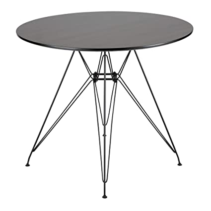 6e7f117b0bf4 Image Unavailable. Image not available for. Color: Avery Round Dining Table  in Black and Walnut