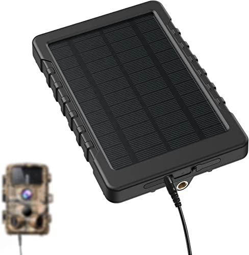 Campark Trail Camera Solar Panel DC 6V 3000mAh Solar Power Bank Portable Charger IP56 Waterproof for Hunting Game Cameras No Batteries Required