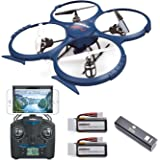 Force1 U818A Drone with Camera for Adults - WiFi FPV Drone with VR Compatibility, Headless Mode, Gravity Induction, 2…