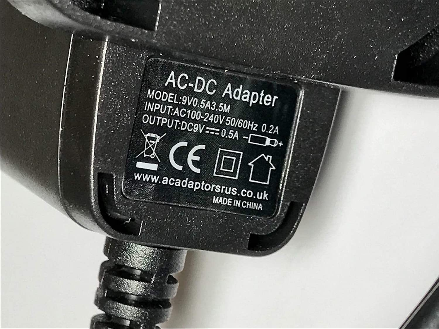 Replacement for 9V 250mA 2.25VA AC//DC Adaptor model R-K090250DT Power Supply UK