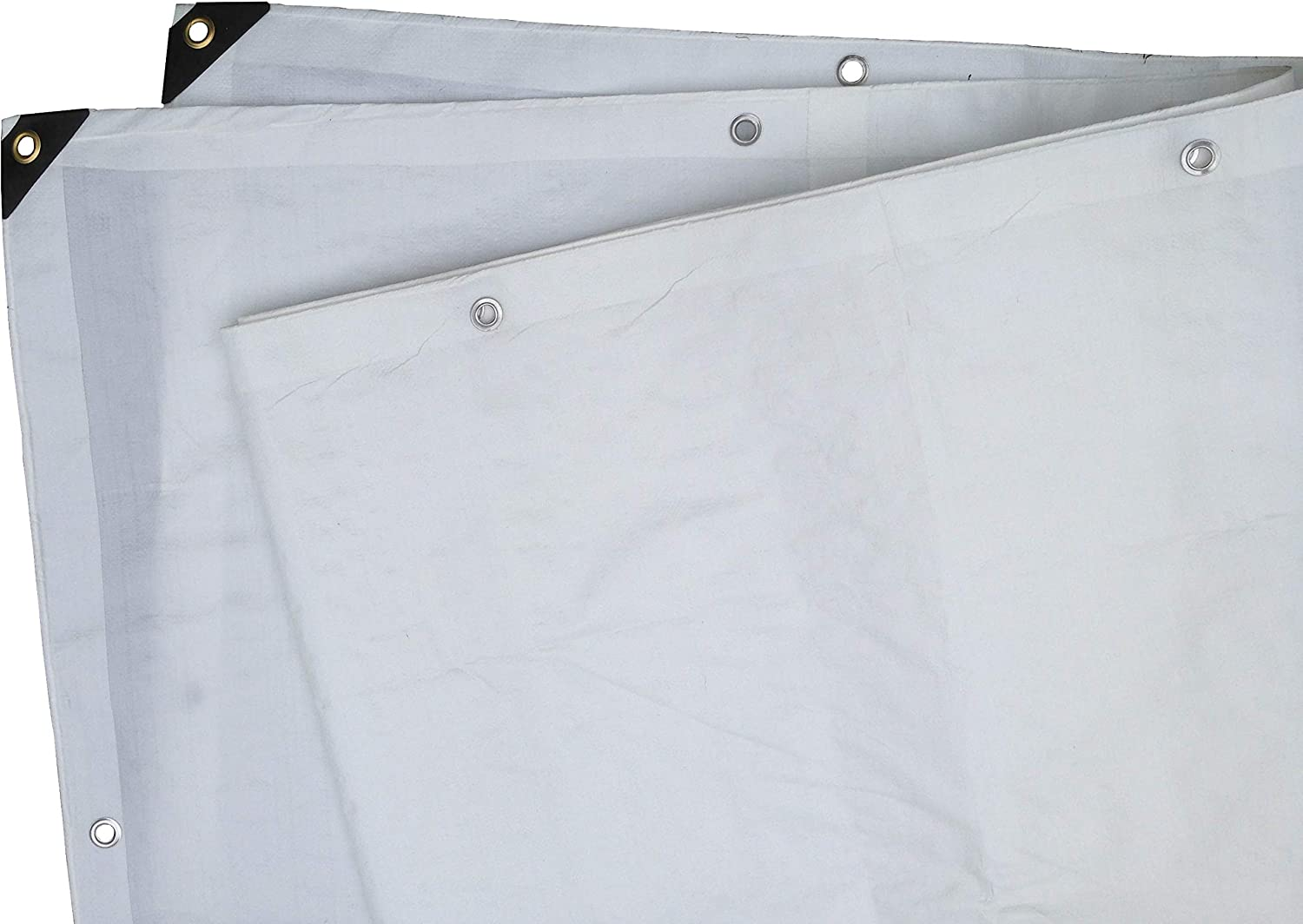 Rip and Tear Resistant Heavy Duty White Poly Tarp 10 x 30 Multipurpose Protective Cover Extra Thick 12 Mil Polyethylene Weather Proof Durable Waterproof by Xpose Safety