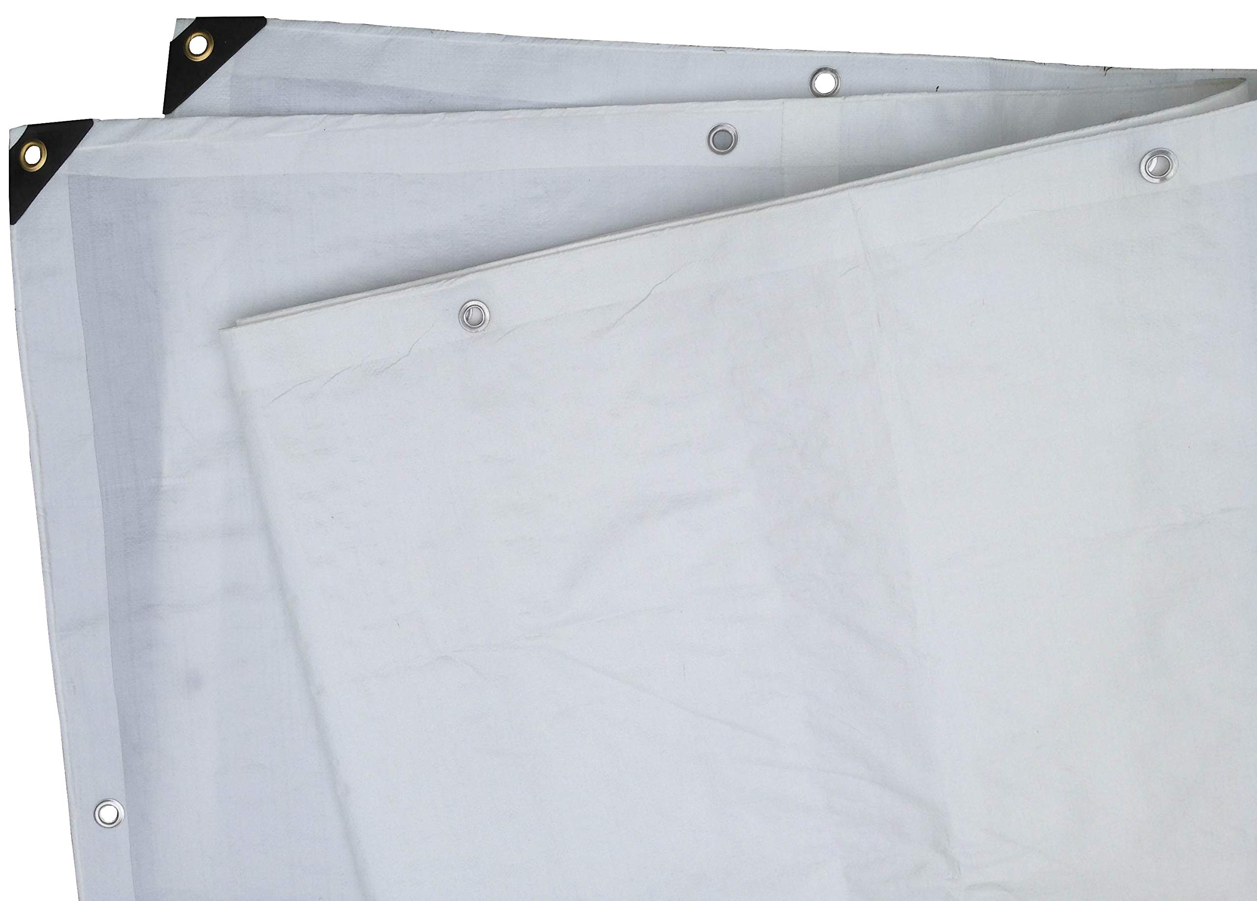 Heavy Duty White Tarp 6 Oz., 6'X10' by Tarpsdirect